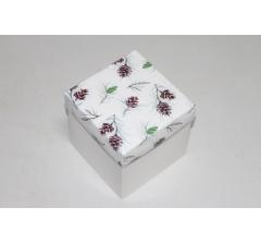 Коробка 110*110*110 мм НГ, белое дно,дизайн 41