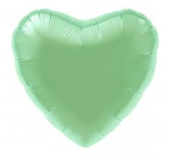 """Шар (18""""/46 см) Сердце, Matte Green( мятный), 1 шт; Grabo."""