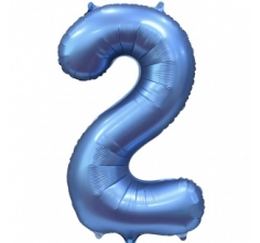 Цифра 2, размер 102 см, Синий
