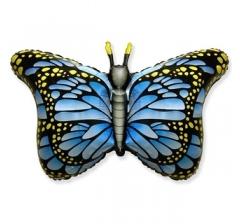 Шар (38''/97 см) Фигура, Бабочка-монарх, Синий, 1 шт