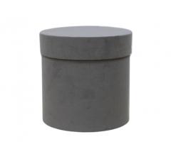 Коробка бархатная, d-150, h-150, серая