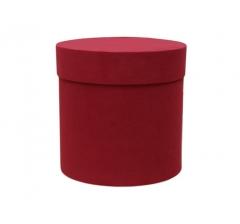 Коробка бархатная, d-150, h-150, красная