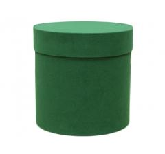 Коробка бархатная, d-200, h-200, зеленая
