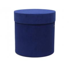 Коробка бархатная, d-200, h-200, синяя