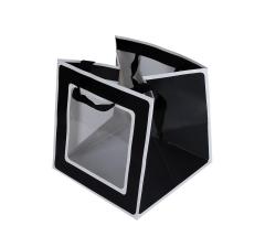 Пакет подарочный черно-белый 21cm /21cm 21cm