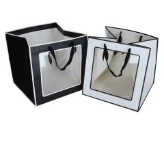 Пакет подарочный черно-белый 30cm /30cm /30cm 9T9254