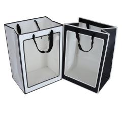 Пакет подарочный черно-белый 35cm /25cm/18cm 9T9256