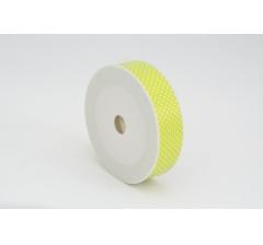 Лента пластиковая 3 см* 50 ярдов, PAP105 желтая в горошек