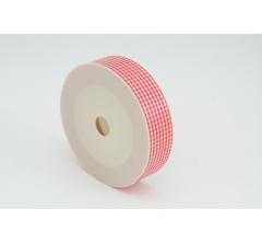 Лента пластиковая 3 см* 50 ярдов, PAP99 красная клеточка