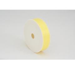 Лента пластиковая 3 см* 50 ярдов, PAP107 желтая клеточка