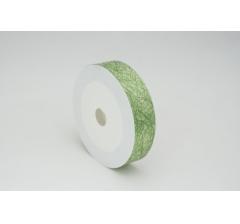 Лента пластиковая 3 см* 50 ярдов, PAP112 зеленая с нитчатым нанесением