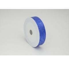 Лента пластиковая 3 см* 50 ярдов, PAP114 синяя с нитчатым нанесением