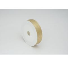 Лента пластиковая 3 см* 50 ярдов, PAP111 золотая с нитчатым нанесением