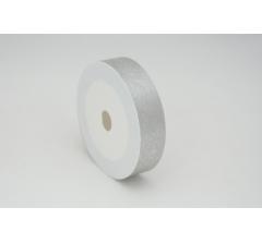 Лента пластиковая 3 см* 50 ярдов, PAP113 серебряная с нитчатым нанесением