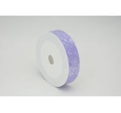 Лента пластиковая 3 см* 50 ярдов, PAP115 сиреневая с нитчатым нанесением
