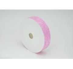 Лента пластиковая 3 см* 50 ярдов, PAP116 розовая с нитчатым нанесением