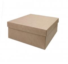 Коробка подарочная 190*190*80 мм, крафт