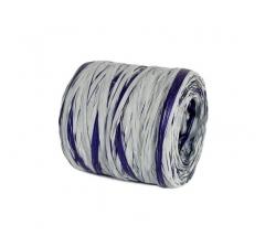 Рафия искусственная 200 м, серо-синяя