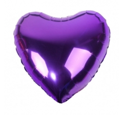 "Шар (18""/46 см) СЕРДЦЕ, Металлик Purple"