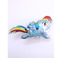Шар (43''/109 см) Фигура, My Little Pony, Лошадка Радуга