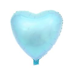 Шар (19''/48 см) Сердце, pastel blue