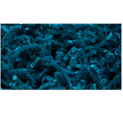 Бумажная дизайнерская стружка (100 г), морская волна