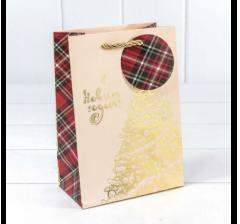 """Пакет подарочный """"Золотая ёлка"""" 14*20*8 см"""