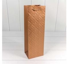 """Пакет подарочный """"Fashion"""" 12*36*9 см, Бронзовый"""
