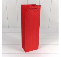 """Пакет подарочный """"Fashion"""" 12*36*9 см, Красный"""
