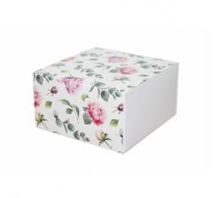 Коробка 160*160*90 мм, дизайн 2020-9, белое дно
