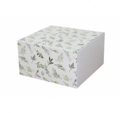 Коробка 160*160*90 мм, дизайн 2020-10, белое дно