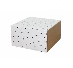 Коробка 160*160*90 мм, дизайн 2020-7, крафт дно