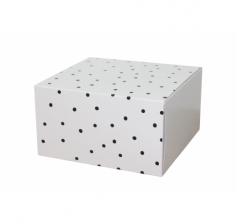 Коробка 160*160*90 мм, дизайн 2020-7, белое дно