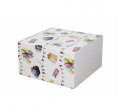 Коробка 160*160*90 мм, дизайн 2020-11, белое дно