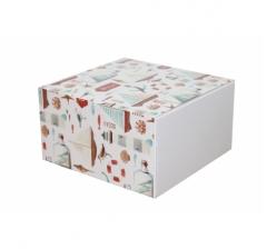 Коробка 160*160*90 мм, дизайн 2020-6, белое дно