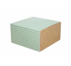 Коробка 160*160*90 мм, дизайн 2020-4, крафт дно