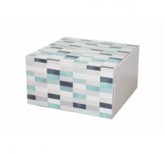 Коробка 160*160*90 мм, дизайн 2020-2, белое дно