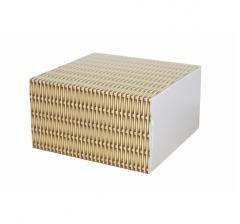 Коробка 160*160*90 мм, дизайн 2020-3, белое дно