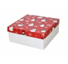 Коробка 200*200*100 мм, дизайн НГ2020-1, с белым дном