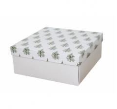 Коробка 200*200*100 мм, дизайн НГ2020-3, с белым дном