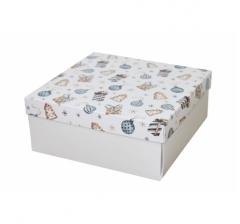 Коробка 200*200*100 мм, дизайн НГ2020-4, с белым дном