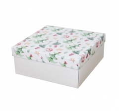 Коробка 200*200*100 мм, дизайн НГ2020-9, с белым дном