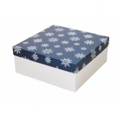 Коробка 200*200*100 мм, дизайн НГ2020-2, с белым дном