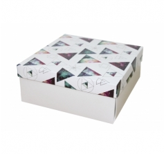 Коробка 200*200*100 мм, дизайн НГ2020-13, с белым дном