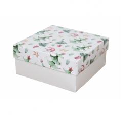 Коробка 150*150*70 мм, дизайн НГ2020-9,с белым дном