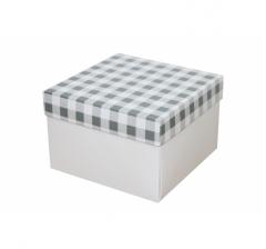 Коробка 150*150*100 мм, дизайн НГ2020-7, белое дно