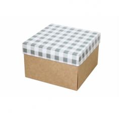 Коробка 150*150*100 мм, дизайн НГ2020-7, крафт дно