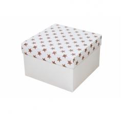 Коробка 150*150*100 мм, дизайн НГ2020-11, белое дно