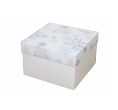 Коробка 150*150*100 мм, дизайн НГ2020-12, белое дно