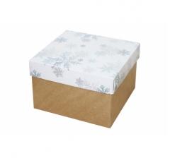 Коробка 150*150*100 мм, дизайн НГ2020-12, крафт дно
